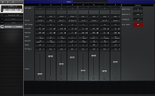 Click to display the Yamaha YS100 System Editor